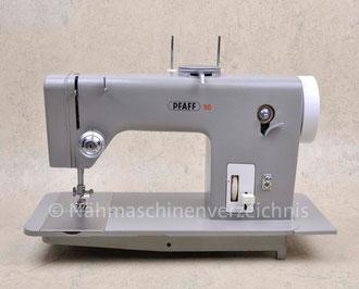 Pfaff 90, Zickzack-Flachbettnähmaschine, Hersteller: G. M. Pfaff AG, Kaiserslautern, Baujahr 1963 (Bilder: Nähmaschinenverzeichnis)