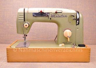 Meister 311, Flachbett, Unterbaumotor, Hersteller: Meister-Werke, Schweinfurt (Bilder: Nähmaschinenverzeichnis)