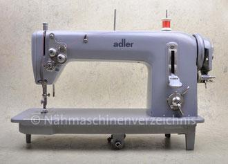 Adler 199-6 Gewerbenähmaschine mit Zickzack-Stich und Kniehebel, Hersteller: Kochs Adler Nähmaschinenwerke AG Bielefeld (Bilder: Nähmaschinenverzeichnis)