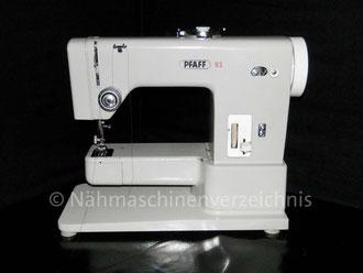 Pfaff 93, Freiarm, Hersteller: G. M. Pfaff AG, Kaiserslautern, Baujahr 1966 (Bilder: M. Maag)