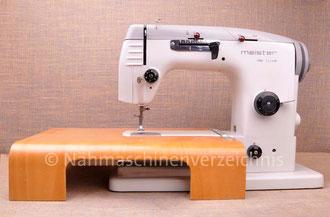 Meister noblesse 361 Freiarm, Automatik mit Schablonen, Hersteller: Meister-Werke GmbH Schweinfurt (Bilder: Nähmaschinenverzeichnis)