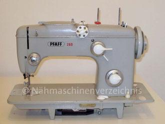 Pfaff 260 Automatic, Flachbett mit Einbaumotor, Hersteller: G.M. Pfaff AG, Nähmaschinenfabrik, Kaiserslautern, Baujahr 1962 (Bilder: Erwin P. Scissek)