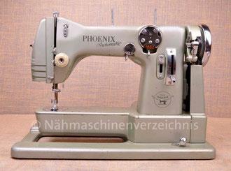 Phoenix Automatic 283F, Freiarm-Automatik-Nähmaschine,Hersteller: Phoenix Nähmaschinen AG Baer und Rempel, Bielefeld (Bilder: Nähmaschinenverzeichnis)