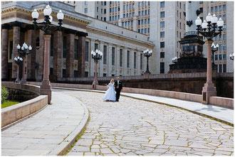Места для свадебных прогулок в Москве