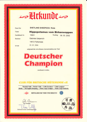 Deutscher Champion CfBrH