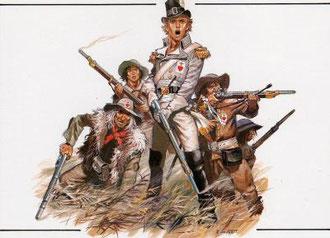 "Henri de la Rochejaquelein  accompagné de ""brigands"" vendéens"