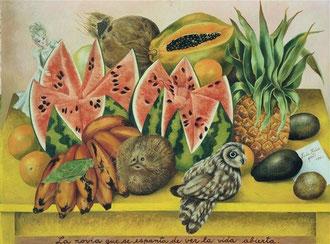 Frida Kahlo, La sposa che si spaventa vedendo la vita aperta