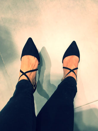 Topshop black flat shoes