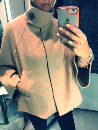 Zara cape coat