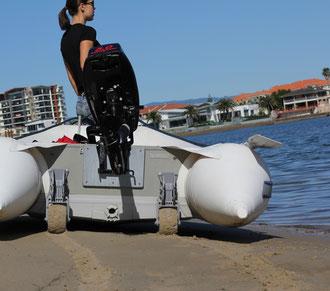 ruote alaggio Schlauchbooträder Slipräder Heckräder