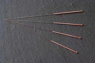 Akupunkturnadeln mit Kupfergriff für Körperakupunktur