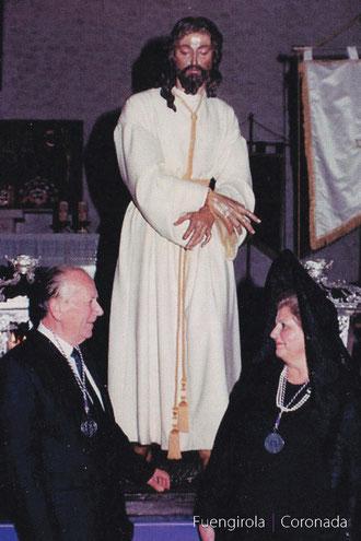 La imagen de Jesús Cautivo junto a sus padrinos