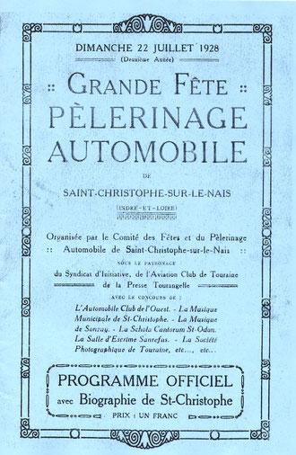 La première page du programme de 1928