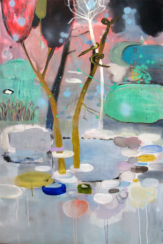 seeleuchte, 2011, oil and acrylic on canvas, 65 x 100 cm