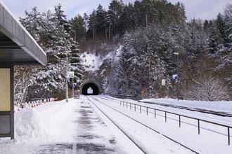 Winter im Haltepunkt Velden
