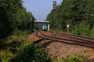 Ausweichstelle bei Wackersdorf mit Strassenüberführung der B 85