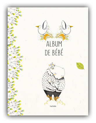 violaine costa illustration couverture du livre pour enfant mon album de bébé aux éditions hachette