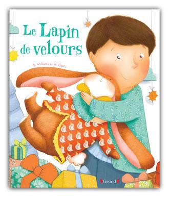 violaine costa illustration couverture du livre pour enfant le lapin de velours aux éditions grund