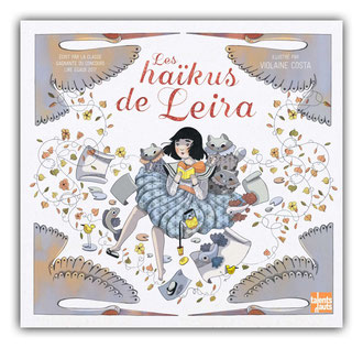 violaine costa illustration couverture du livre pour enfant les haikus de leira aux édtions Talents Hauts