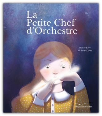 violaine costa illustration couverture du livre pour enfant la petite chef d'orchestre aux édition gautier-languereau