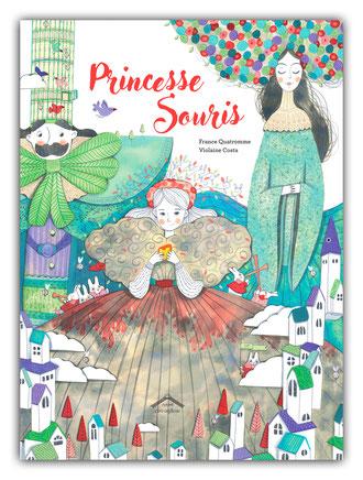 violaine costa illustration couverture du livre pour enfant princesse souris aux éditions circonflexe