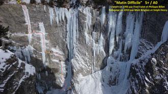 Cascade de glace Glacenost topo Matin Difficile Haute-Maurienne Guide de Haute Montagne