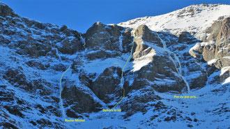 ribon cascade de glace topo roche michel pas vu pas pris dehors la loi haute maurienne matthieu brignon guide de haute montagne bessans alpinisme