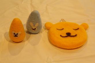左からTさま、Ihさま、Itさまの作品☆形も表情もキュートに出来ました♥