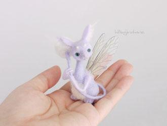 フェアリードラゴン 羊毛フェルト 手乗り 妖精