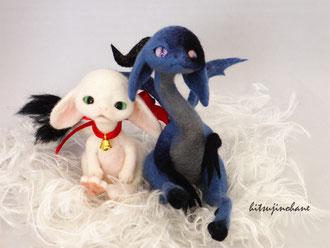 羊毛フェルト 幻獣 ドラゴン ベビー