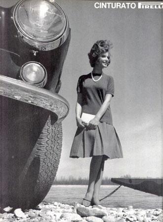 Pirelli Werbung in den 60er mit einem P 1800