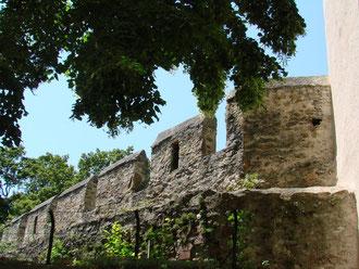 die vollständig erhaltene Stadtmauer