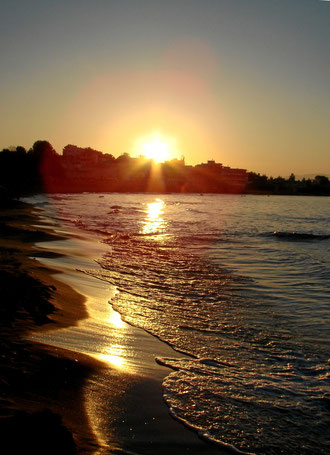 ein schöner Tag am Meer neigt sich zu Ende