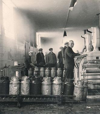 Die Milchannahme Ende 1940