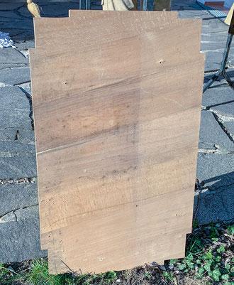 Grundriss Grundplatte Größe Bretter ausgeschnitten