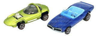 Silhouette y Pontiac Firebird de Hot Wheels.