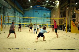 Beach Volleyball in der  _ Mensch  Sport und Erlebniswelt