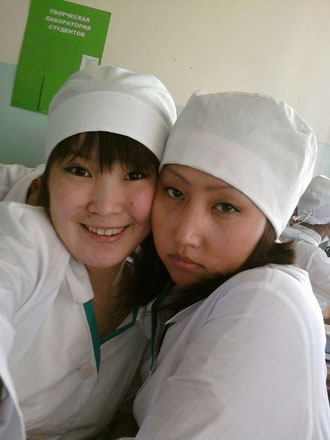 Студентки. Якутск