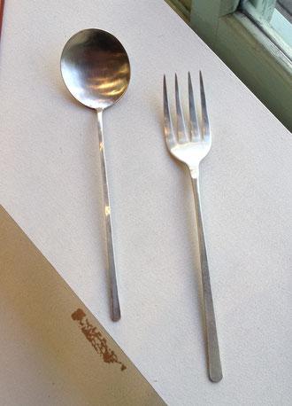 スープスプーン、フィッシュフォーク 20cm(銀) ¥9,000〜11,000