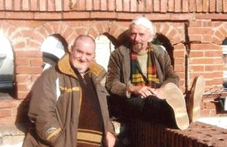 avec le sculpteur nigel ritchie : on lézarde - 2007