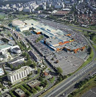 Bâtiments actuels Westfield Vélizy 2 - Extension Commerce - © Cabinet d'architecture L35 ARQUITECTOS.