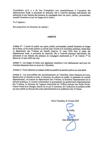 Arrêté du Préfet des Yvelines - p2