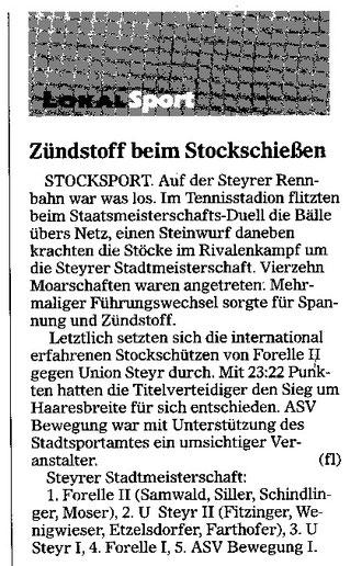 Pressebericht OÖ. Nachrichten, 9. September 2003