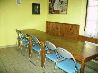 La salle à manger du gîte d'étape