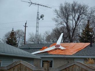 éolienne cassée hors service