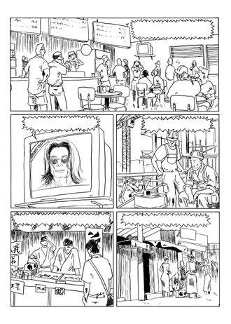 """Perro : Noir et blanc page 1 : """"Un certain jeudi 25 juin"""""""