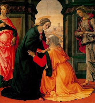 La Visitación. Doménico Ghirlandaio. 1491. Museo del Louvre