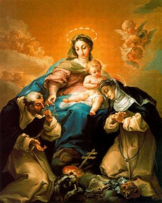 Virgen del Rosario en Gloria. Vicente López. Museo de Bellas Artes de Sevilla