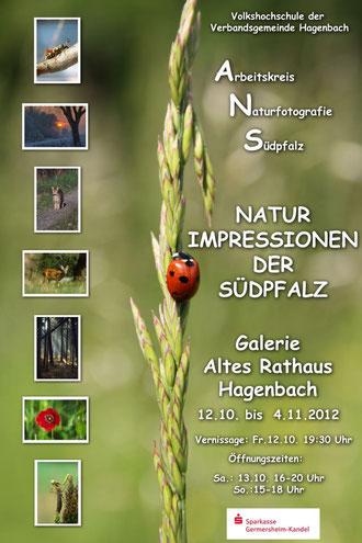 Plakat zur Ausstellung des Arbeitskreis Naturfotografie Südpfalz 2012