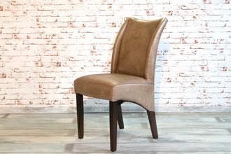 Hochlehner Harry aus Echtleder mit aufgepolsterten Seiten, die opulente Sitzfläche und Rückenlehne ist weich gepolstert, ein Hochlehner im edlen Vintage Look